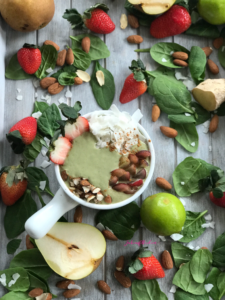 Ginger Coconut Green Smoothie Bowl | www.jackieunfiltered.com