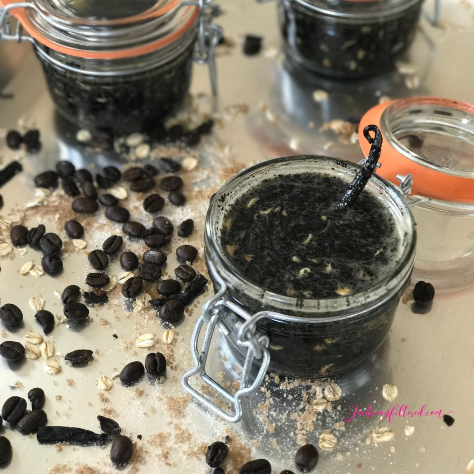 Diy Natural Exfoliating Body Scrub Recipe Made With Coffee Brown