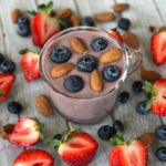 Blueberry Strawberry Almond Smoothie Recipe | https://www.jackieunfiltered.com/?p=2661&preview=true