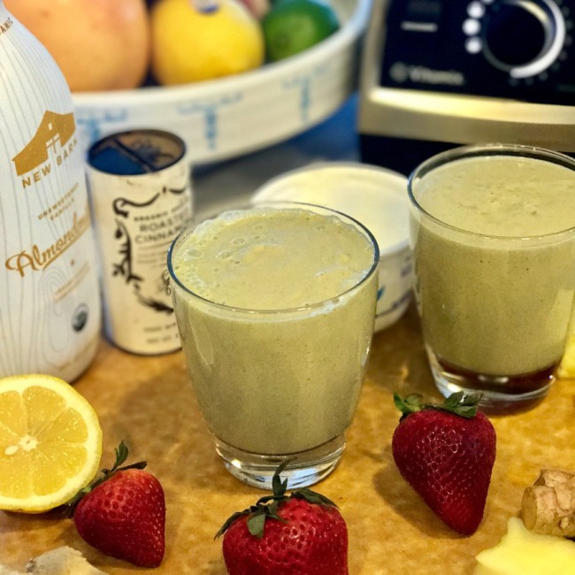 Avocado, Pineapple, Ginger Immunity Booster Smoothie Recipe | https://www.jackieunfiltered.com/?p=2818&preview=true