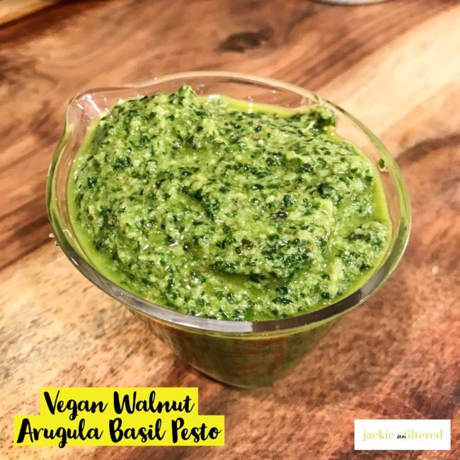https://www.jackieunfiltered.com/grilled-lemon-sole-vegan-arugula-basil-walnut-pesto-green-salad-tossed-with-a-green-onion-ginger-vinaigrette/